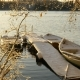 Snowy Boats Docked on Winter Lake - VideoHive Item for Sale