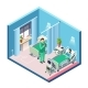 Vector Isometric Hospital Room - GraphicRiver Item for Sale