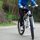 Riding on mountain bike ascent the slope - PhotoDune Item for Sale