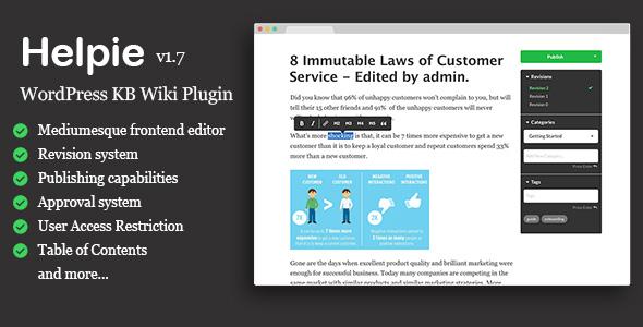 Helpie - WordPress Wiki Plugin | Knowledge Base | Documentation - CodeCanyon Item for Sale