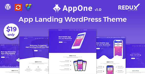 Image of AppOne - App Landing WordPress Theme
