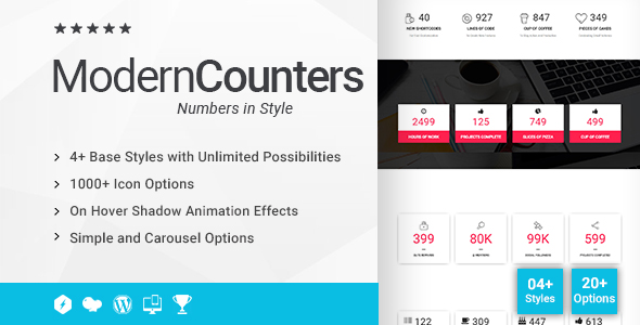 Modern Counters Addon for WPBakery Page Builder (formerly Visual Composer) - CodeCanyon Item for Sale