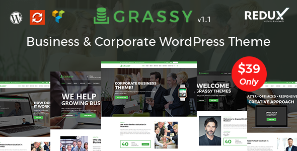 Grassy Business - Business, Corporate and Finance WordPress Theme - Business Corporate