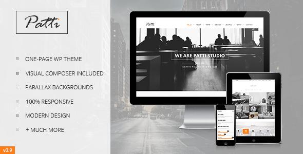 Patti - Parallax One Page WordPress Theme - Portfolio Creative