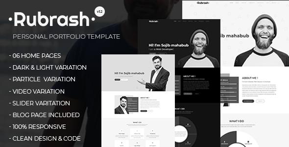 Rubrash - Personal Portfolio HTML Template