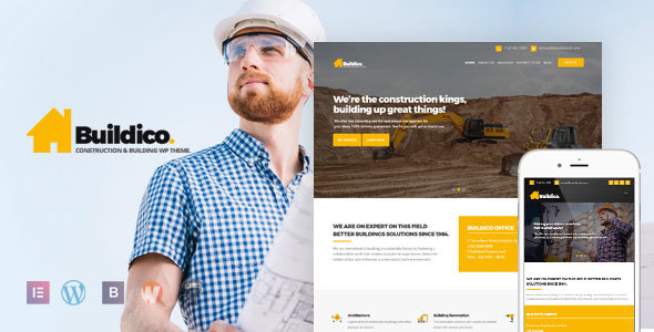 Buildico - Construction and Building WordPress Theme - Business Corporate