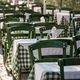 Athens, Greece. Greek tavern empty tables and chairs at Plaka. - PhotoDune Item for Sale