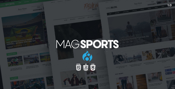 Image of MagSports - News Editorial & Magazine Drupal 8 Theme