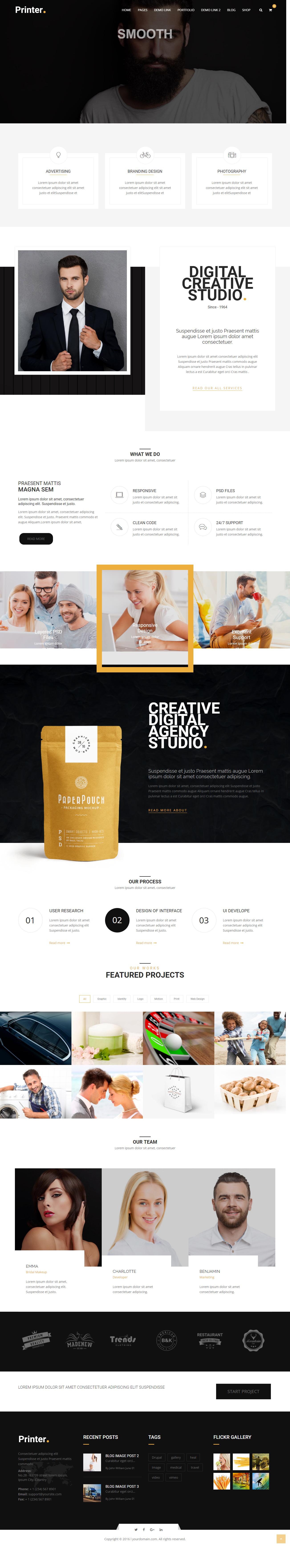 Printer - Responsive Multi-Purpose Drupal 8 7 Theme