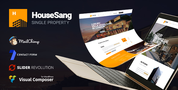 HouseSang |  Impressive Single Property WordPress Theme - Real Estate WordPress