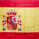 Spanish flag with shield and royal crown. Constitutional monarchy. Identity - PhotoDune Item for Sale
