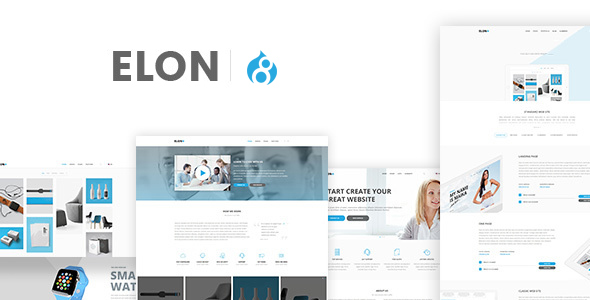 Image of Elon - Businesses and agencies modular Drupal 8 Theme