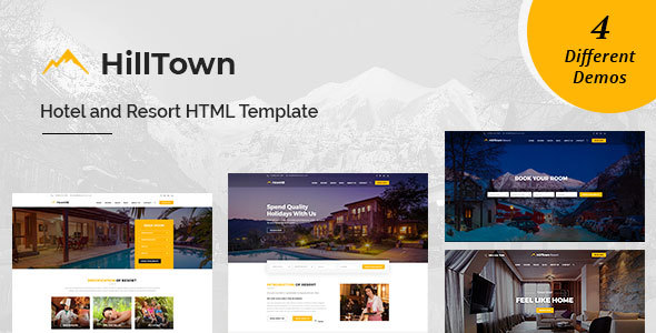 Image of HillTown - Hotel & Resort HTML Template
