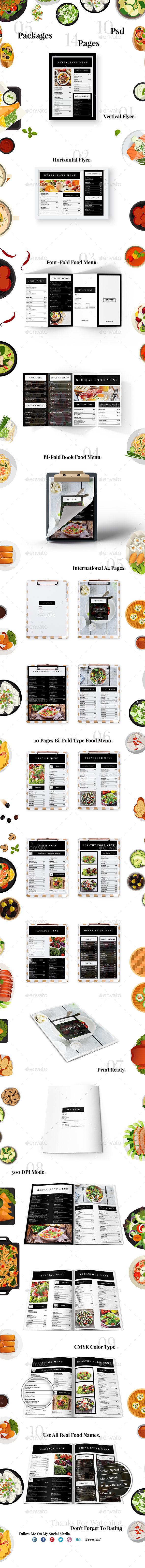 Minimalism Food Menu Pack - Food Menus Print Templates