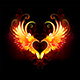 Angel Fire Heart with Wings - GraphicRiver Item for Sale