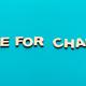 Time for change inscription on blue background - PhotoDune Item for Sale