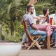 Friend meeting in the yard - PhotoDune Item for Sale