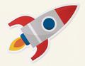 Rocket ship launching symbol icon - PhotoDune Item for Sale