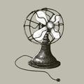 Portable fan vintage style illustration - PhotoDune Item for Sale