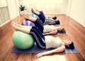 Pregnant woman in yoga class - PhotoDune Item for Sale