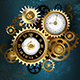 Two Steampunk Clocks with Gears - GraphicRiver Item for Sale