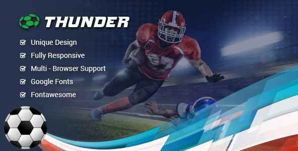 Thunder - sports news & magazine Template