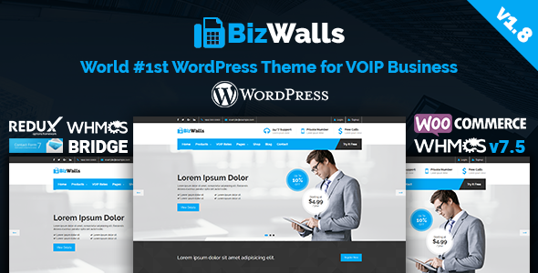 BizWalls | Responsive VOIP & Virtual Phone Business WordPress Theme - Technology WordPress