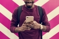 African man using mobile phone - PhotoDune Item for Sale