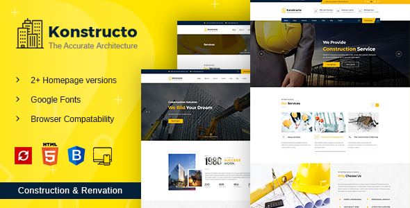 Image of Konstructo - Construction and Architecture HTML Template