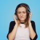 Pretty Young Woman Does Not Like Music Playlist - VideoHive Item for Sale
