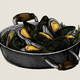 Hand drawn cooked mussels - PhotoDune Item for Sale