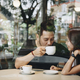 Lovely asian couple having coffee - PhotoDune Item for Sale