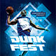 Slam Dunk Contest Flyer Template