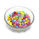 Bright colorful candy in glass bowl on white background - PhotoDune Item for Sale