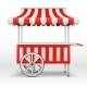 Mobile Market Stall with Wheels - GraphicRiver Item for Sale