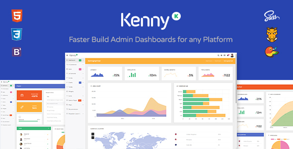 Kenny – Dashboard / Admin Site Responsive Template - Admin Templates Site Templates