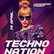 Techno  Dj Flyer - GraphicRiver Item for Sale