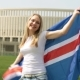 Woman with the Flag of Iceland - VideoHive Item for Sale