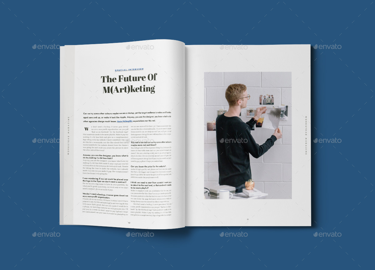 Workstead Magazine 40 Pages Indesign Template By Danibernd
