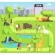 Cartoon Zoo with Visitors and Safari Animals - GraphicRiver Item for Sale