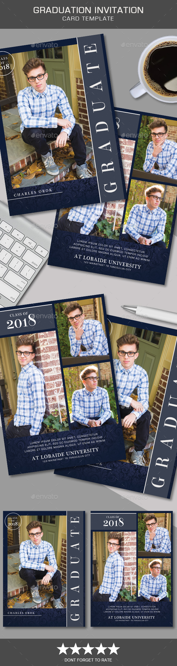 Graduation Invitation - Cards & Invites Print Templates
