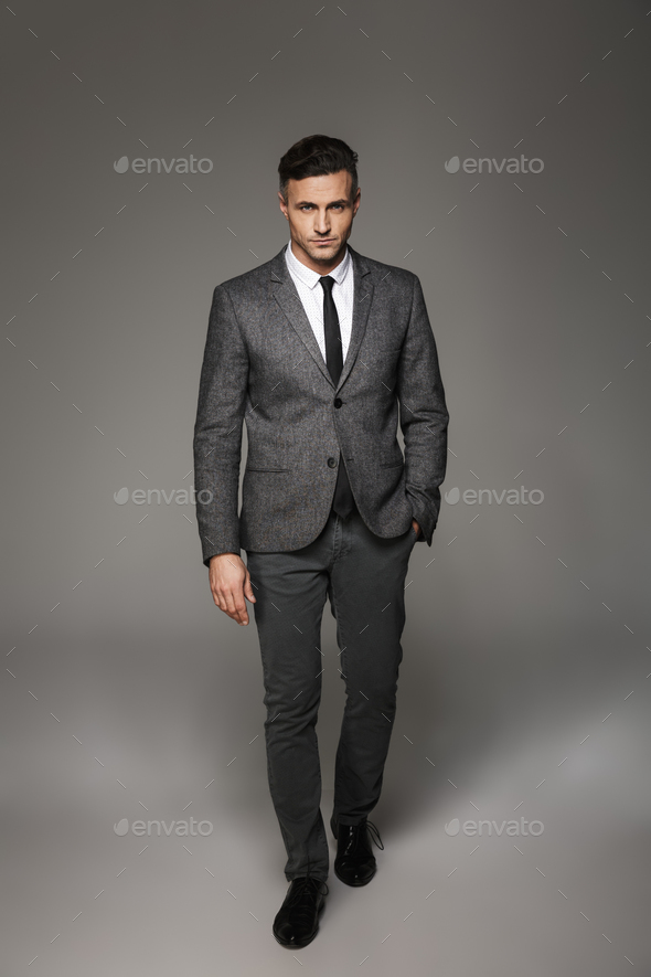 Full Length Portrait Of Successful Businessman Wearing Business Stock Photo By Vadymvdrobot