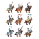 Flat Vector Set of Medieval Knights on Horseback - GraphicRiver Item for Sale