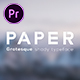 Paper - Grotesque Shady Animated Typeface for Premiere - VideoHive Item for Sale