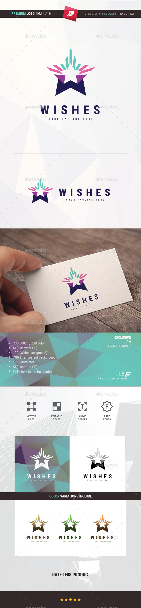 Star Wishes Logo - Objects Logo Templates
