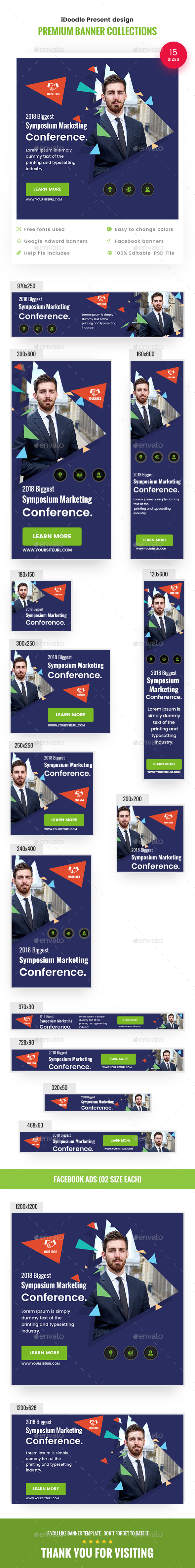 Business Conference - Banners & Ads Web Elements