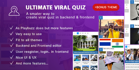 Ultimate Viral Quiz - Wordpress Viral Quiz Builder - BuzzFeed Quiz Builder - CodeCanyon Item for Sale