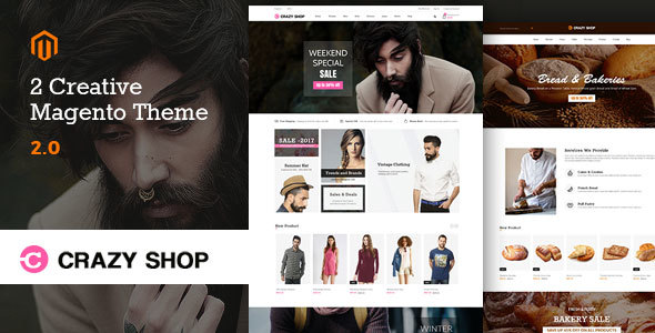 crazyshop multipurpose responsive magento2 theme | fashion store | watch store | food stor (magento) Crazyshop Multipurpose Responsive Magento2 Theme | Fashion Store | Watch Store | Food Stor (Magento) preview