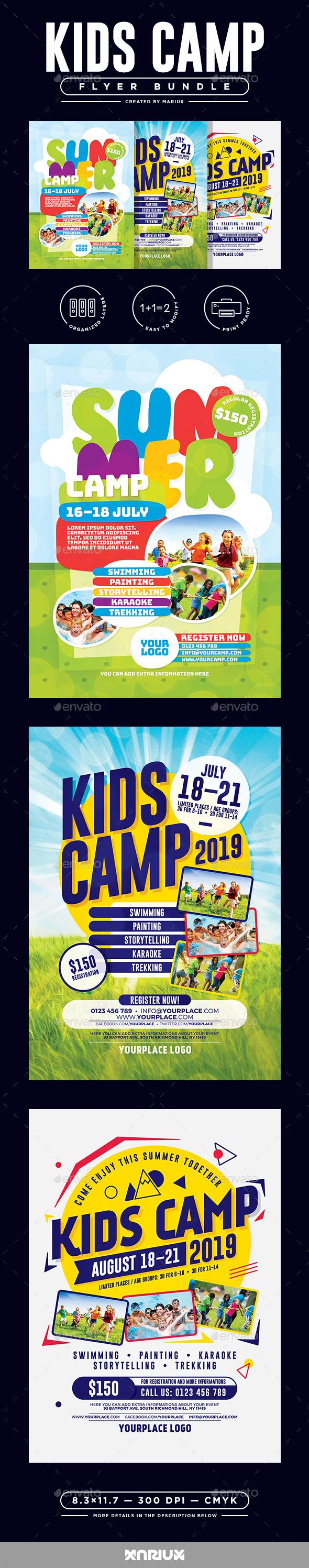Kids Camp Flyer/Poster Bundle - Corporate Flyers