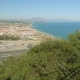 Top View of Landing Strip of Gibraltar Airport and Faraway View of Spanish Coastline - VideoHive Item for Sale
